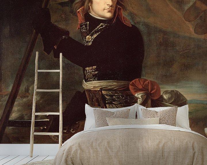 Beispiel fototapete: Napoleon Bonaparte auf der Brücke bei Arcole, Antoine-Jean Gros