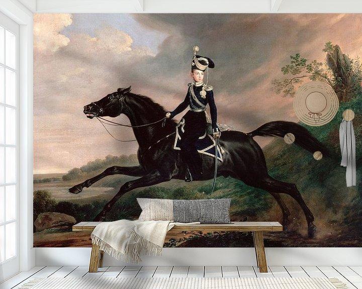 Beispiel fototapete: Reiterporträt von Großfürst Alexander Nikolajewitsch, Franz Krüger