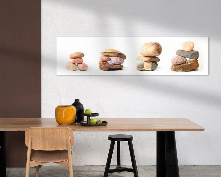 Sfeerimpressie: Pebbles, drieluik in vier delen van Wim Zoeteman