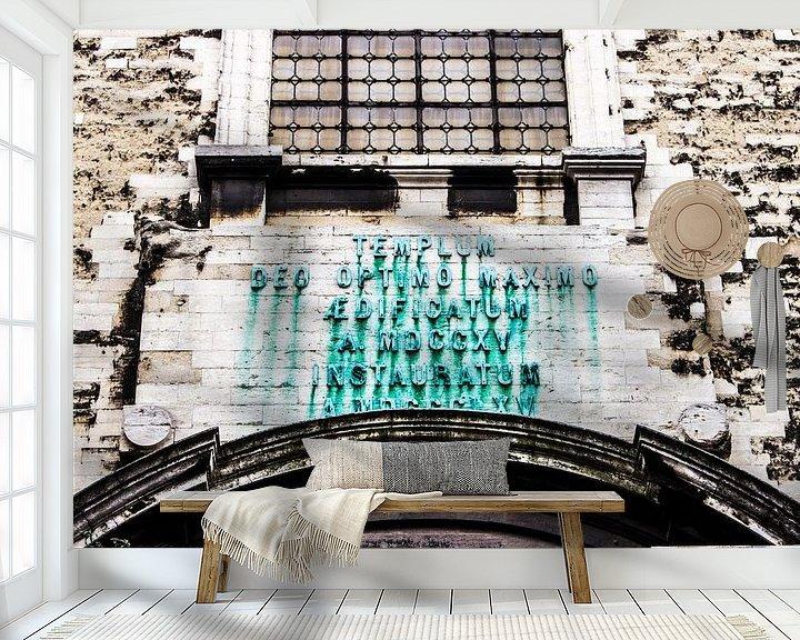 Sfeerimpressie behang: Brussel van Marcel van Laar