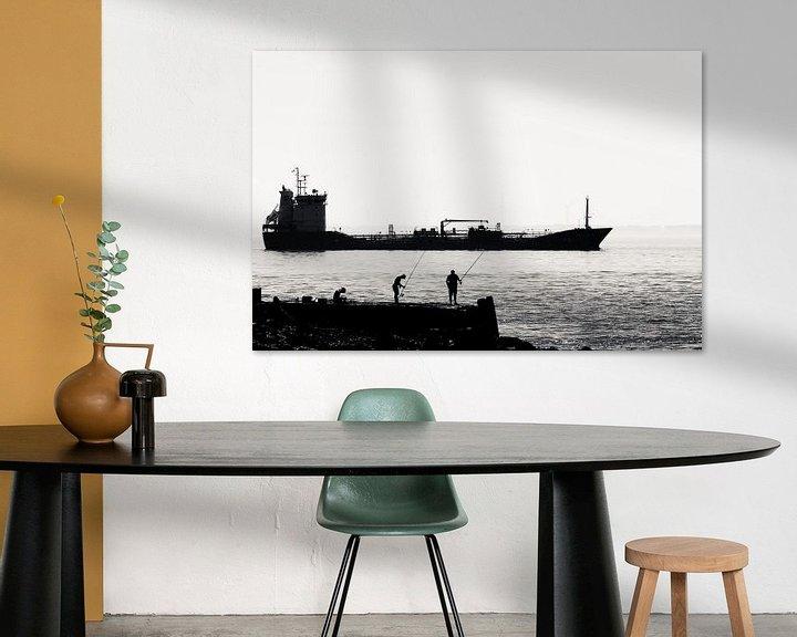 Sfeerimpressie: Vissers op de pier bij Vlissingen (silhouet) van Fotografie Jeronimo
