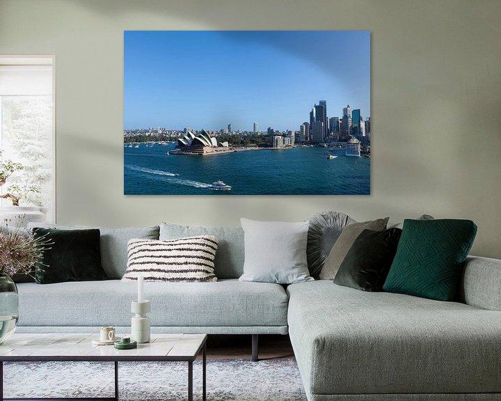 Sfeerimpressie: Sydney, Australië. Het Sydney Opera House is een beroemd kunstcentrum. Het werd ontworpen door de De van Tjeerd Kruse