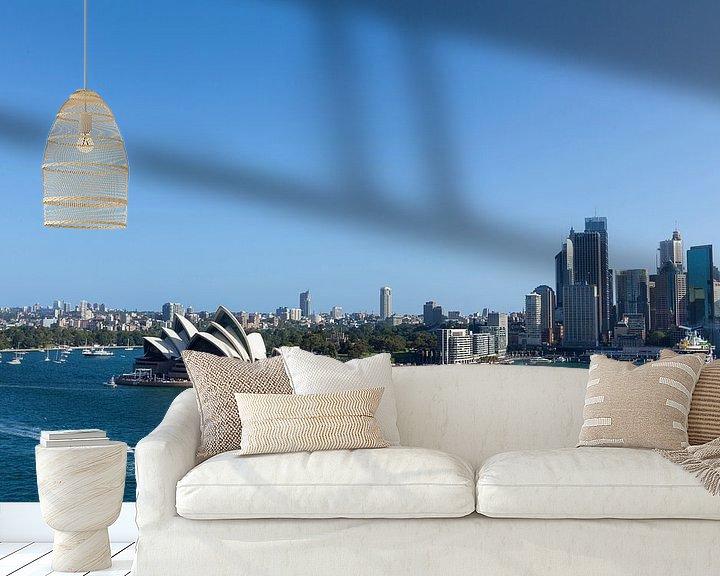 Sfeerimpressie behang: Sydney, Australië. Het Sydney Opera House is een beroemd kunstcentrum. Het werd ontworpen door de De van Tjeerd Kruse
