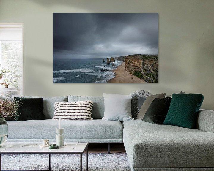 Sfeerimpressie: Twelve Apostles scenic uitzichtspunt bij Castle Rock in de pacific ocean road in Victoria, Australia van Tjeerd Kruse