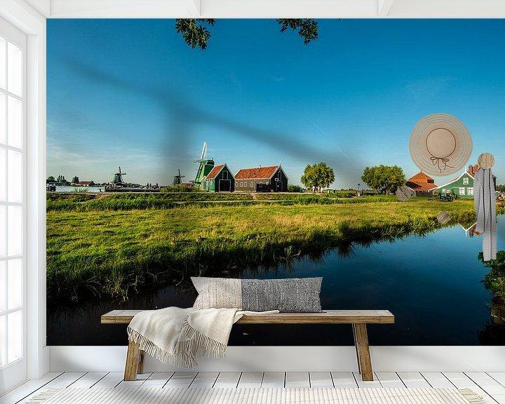 Sfeerimpressie behang: Zaanse Schans Holland van Brian Morgan