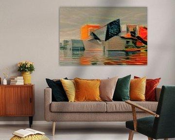Kunstwerk van Groninger Museum in de stijl van Munch van Slimme Kunst.nl