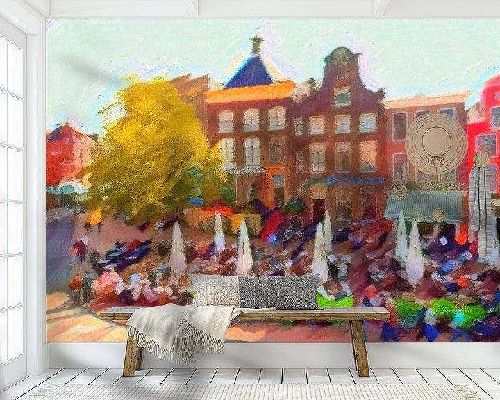 Beispiel fototapete: Die drei Schwestern von Groningen im Stil von Kandinsky von Slimme Kunst.nl