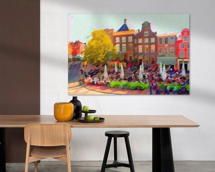 Beispiel: Die drei Schwestern von Groningen im Stil von Kandinsky von Slimme Kunst.nl