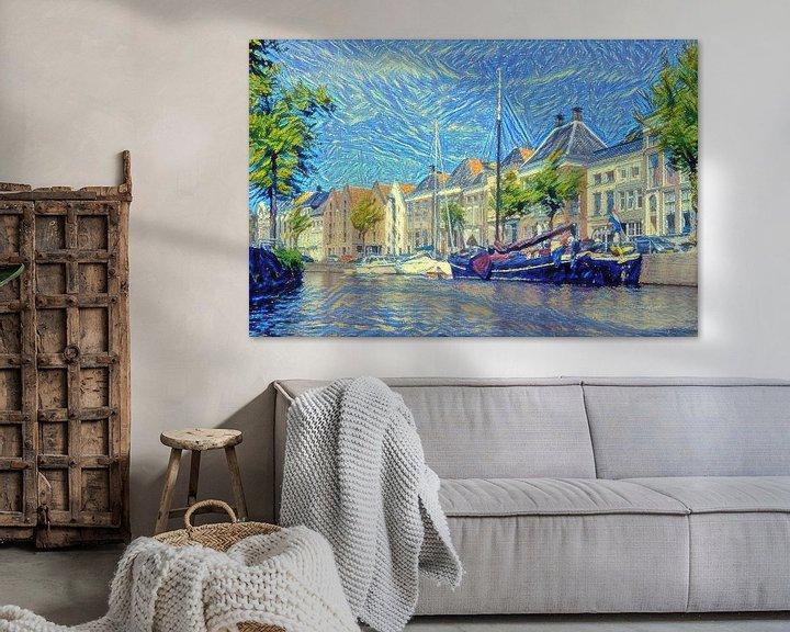 Beispiel: High Der Aa aus dem Wasser im Stil von Van Gogh von Slimme Kunst.nl