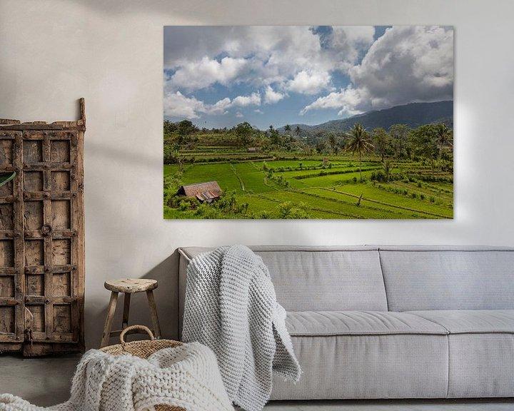 Sfeerimpressie: Bali rijstterrassen. De prachtige en dramatische rijstvelden van Jatiluwih in het zuidoosten van Bal van Tjeerd Kruse