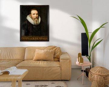 Porträt von Johan van Oldenbarnevelt (Name auf dem Bild)