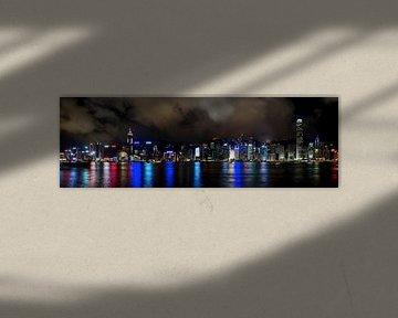 Hong Kong, Victoria Harbour 's avonds