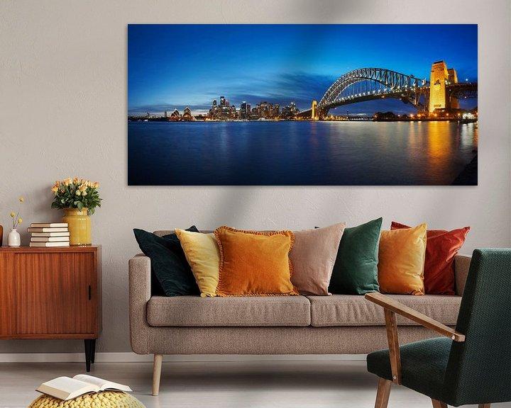 Sfeerimpressie: Melbourne, haven, brug en opera house van Atelier Liesjes