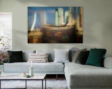 Rotterdam durch eine Glaskugel gesehen von Gerrit van Leeuwen