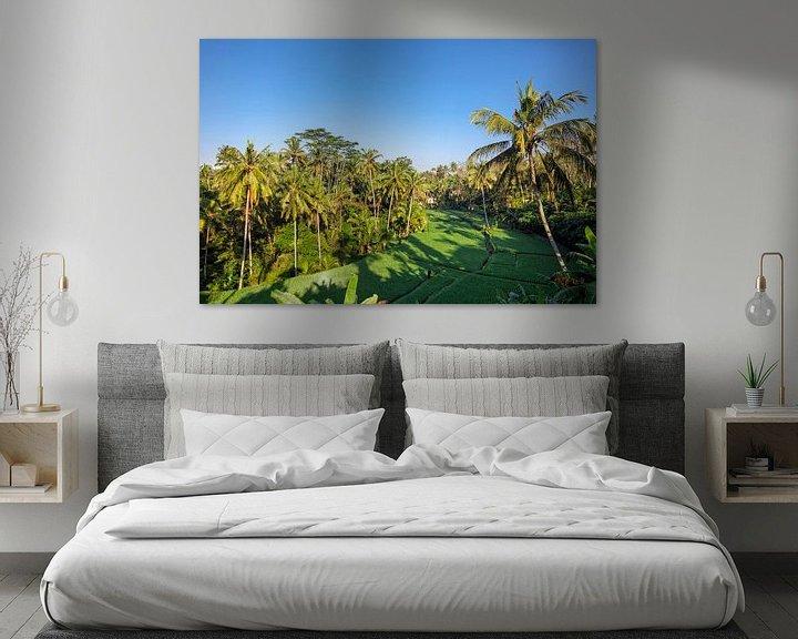 Sfeerimpressie: Rijstterras in de zomer, Bali, Indonesië van Tjeerd Kruse