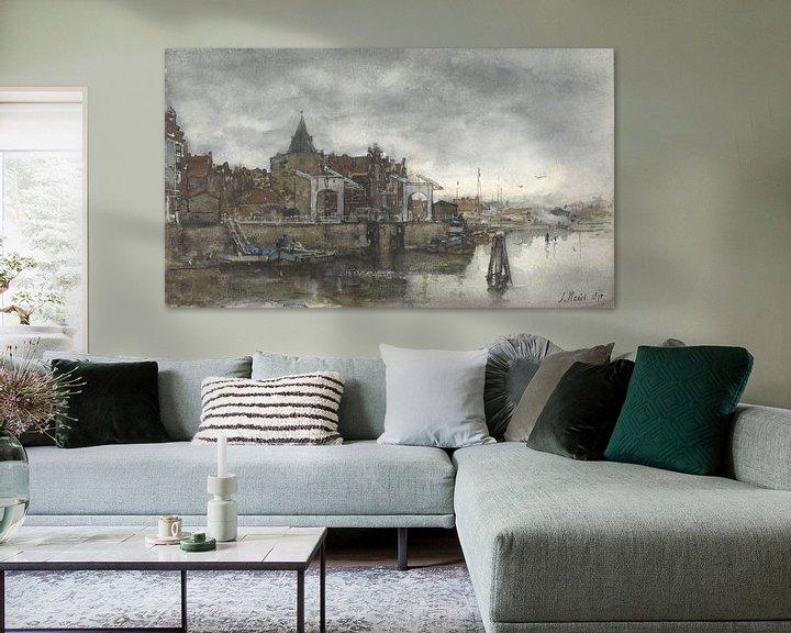 Beispiel: Das Äußere mit den Schreierstoren in Amsterdam, Jacob Maris.