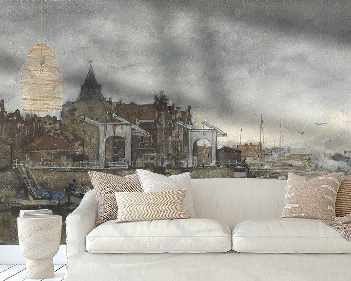 Beispiel fototapete: Das Äußere mit den Schreierstoren in Amsterdam, Jacob Maris.