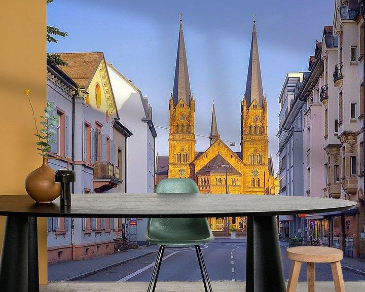 Beispiel fototapete: Johanneskirche Freiburg von Patrick Lohmüller