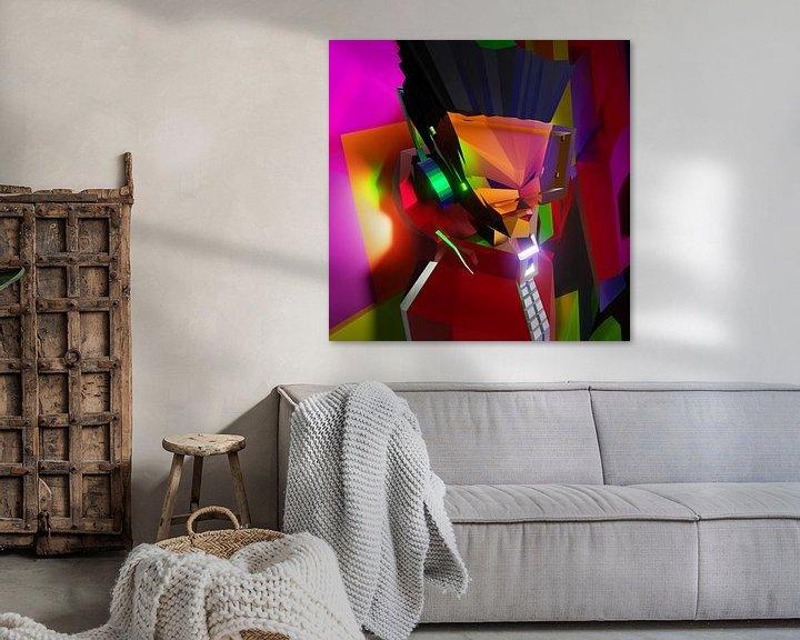 Beispiel: Hip Hop B-Boy (2019) von Pat Bloom - Moderne 3D, abstracte kubistische en futurisme kunst