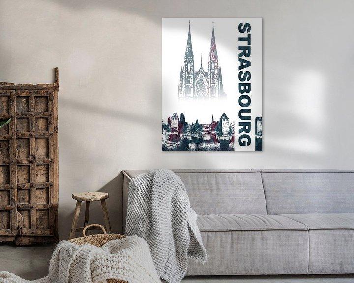 Sfeerimpressie: Straatsburg van Printed Artings