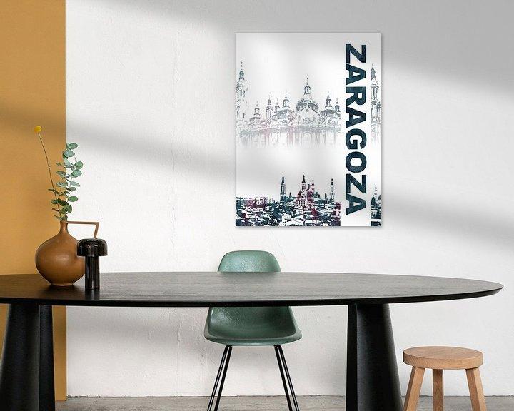 Sfeerimpressie: Zaragoza van Printed Artings