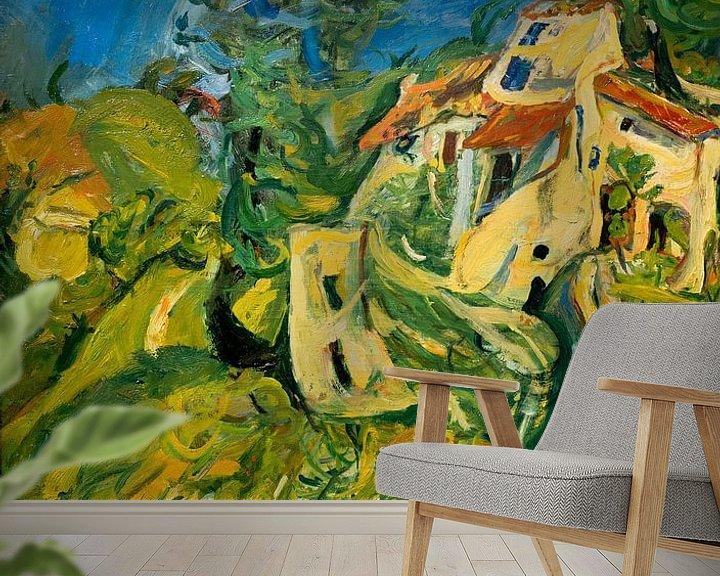 Beispiel fototapete: Landschaft (Haus mit Garten), Chaim Soutine