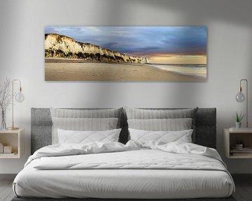 Panorama Opalküste, Frankreich von Rietje Bulthuis