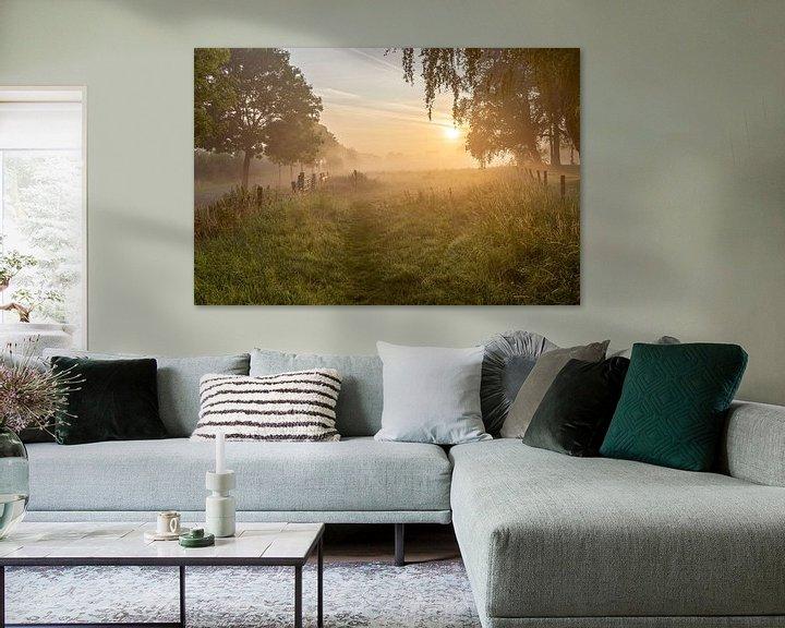Impression: une matinée brumeuse sur le Leiemeersen à Lauwe - Menen, Belgique. sur Fotografie Krist / Top Foto Vlaanderen