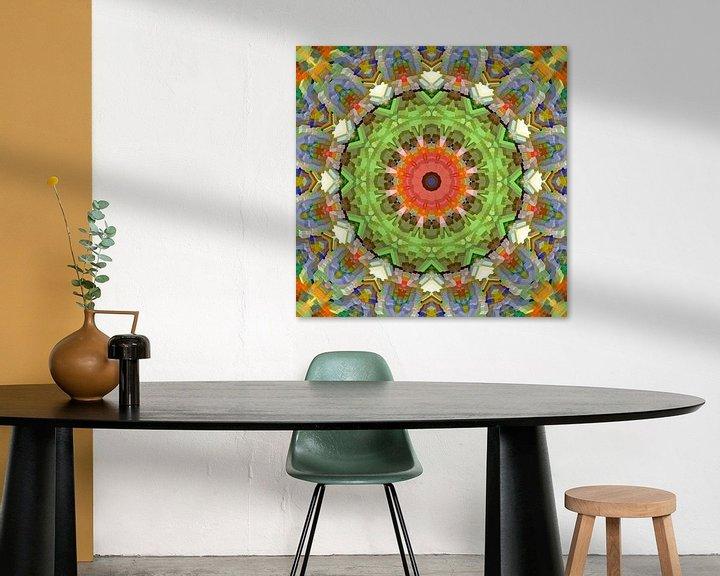 Sfeerimpressie: Mandala voorjaarskleuren blokken van Marion Tenbergen