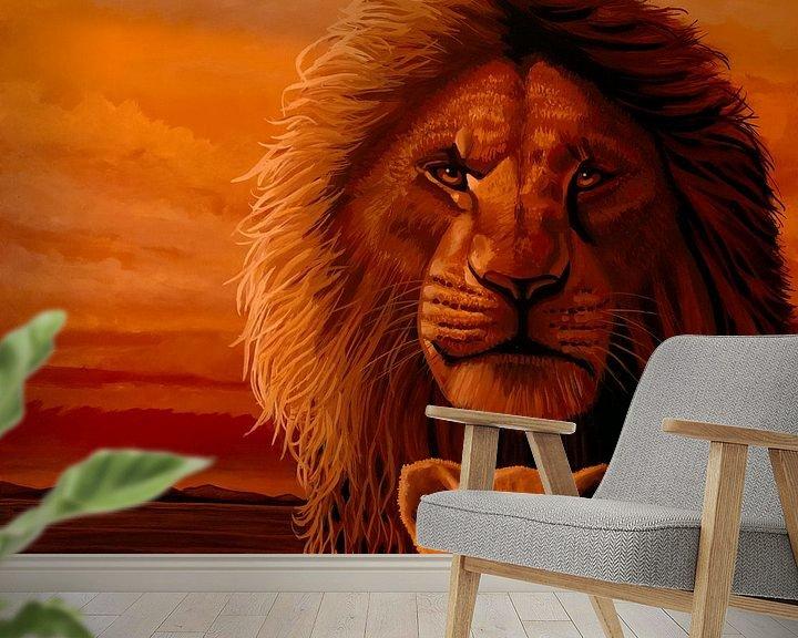 Beispiel fototapete: Das Gemälde des Königs der Löwen von Paul Meijering