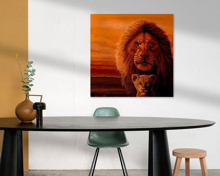 Beispiel: Das Gemälde des Königs der Löwen von Paul Meijering