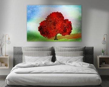 Der rote Baum abstrakt