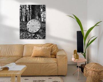 Uhrwald 1 schwarzweiß von Jörg Hausmann