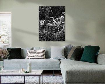 Monschau in der Eifel 8 schwarz-weiß von Jörg Hausmann
