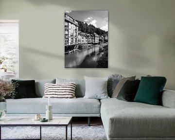 Monschau in der Eifel 10 schwarz-weiß von Jörg Hausmann