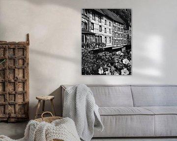 Monschau in der Eifel 2 schwarz-weiß von Jörg Hausmann
