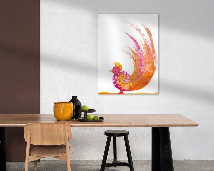 Beispiel: Paradiesvogel von Herma Egberts
