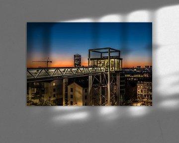 La place Poelaert au coucher du soleil sur Werner Lerooy