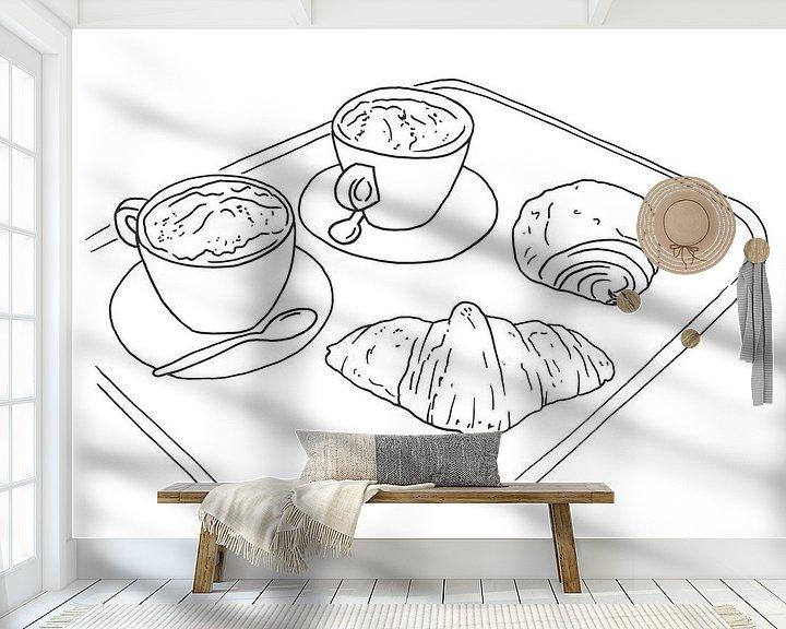 Beispiel fototapete: Kaffee und Croissants von Natalie Bruns