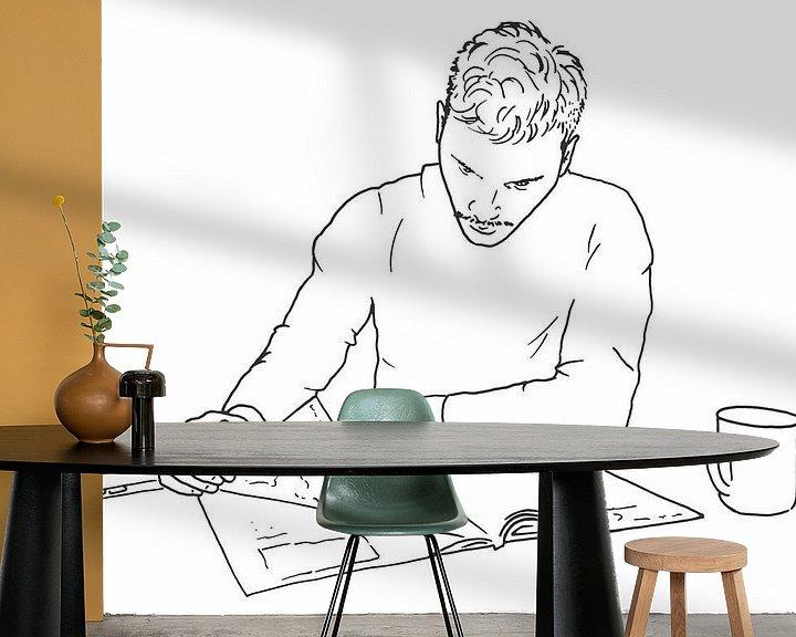 Beispiel fototapete: Entspannen Sie sich bei etwas Lesen und einer Tasse Kaffee. von Natalie Bruns