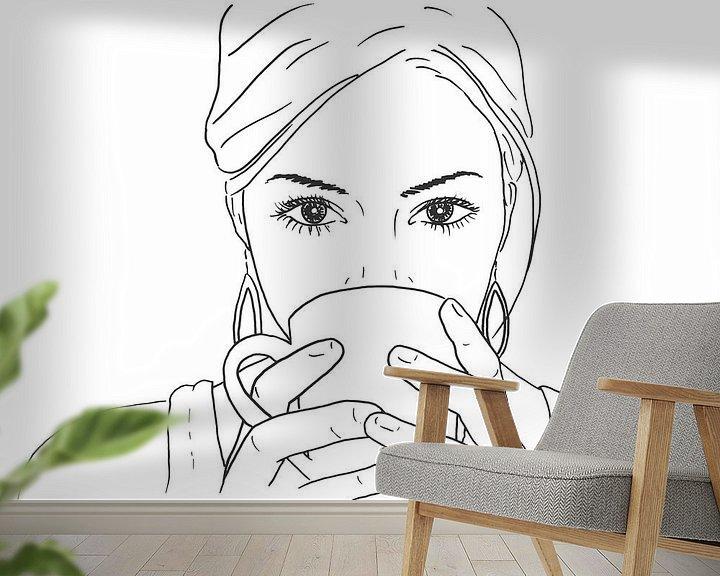 Beispiel fototapete: Entspannen bei einer Tasse Kaffee von Natalie Bruns