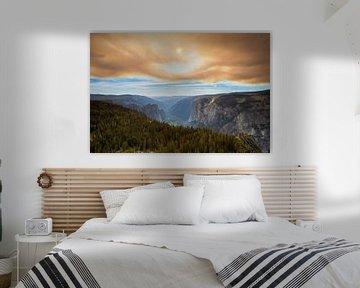 Parc national de Yosemite après un incendie de forêt sur Antwan Janssen