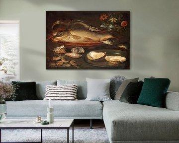 Stillleben mit Fischen, Austern und Garnelen, Clara Peeters