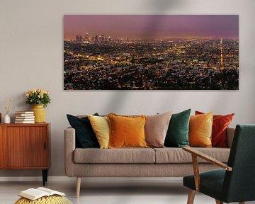 Los Angeles Skyline van Mark den Hartog