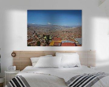 Panorama-Stadtlandschaft von La Paz, Bolivien, Südamerika, von Tjeerd Kruse