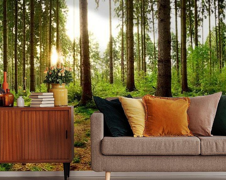 Sfeerimpressie behang: Een ochtend in het bos van Günter Albers