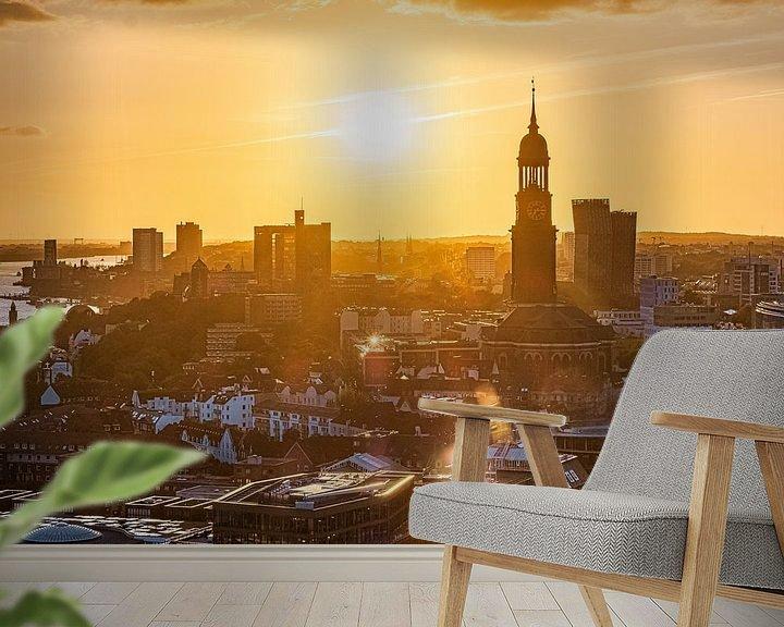 Beispiel fototapete: 2018-09-13 Hamburg Panorama von Joachim Fischer