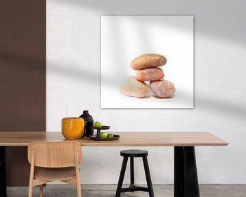 Pebbles drieluik # 1-4 van Wim Zoeteman