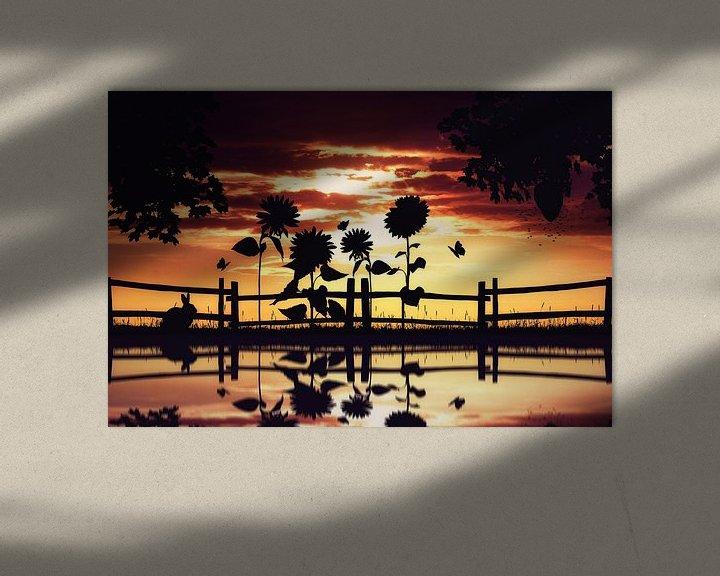 Sfeerimpressie: Warme silhouet van de natuur van Bert Hooijer