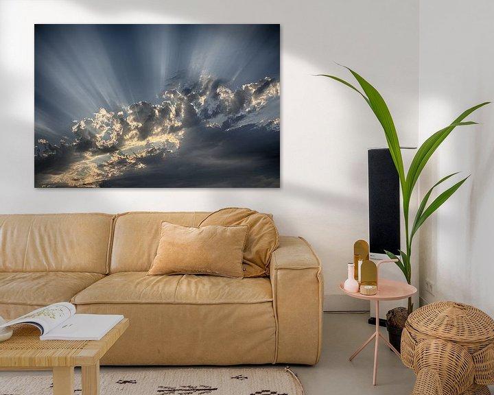 Sfeerimpressie: Het spel van licht in de wolken van Erich Werner